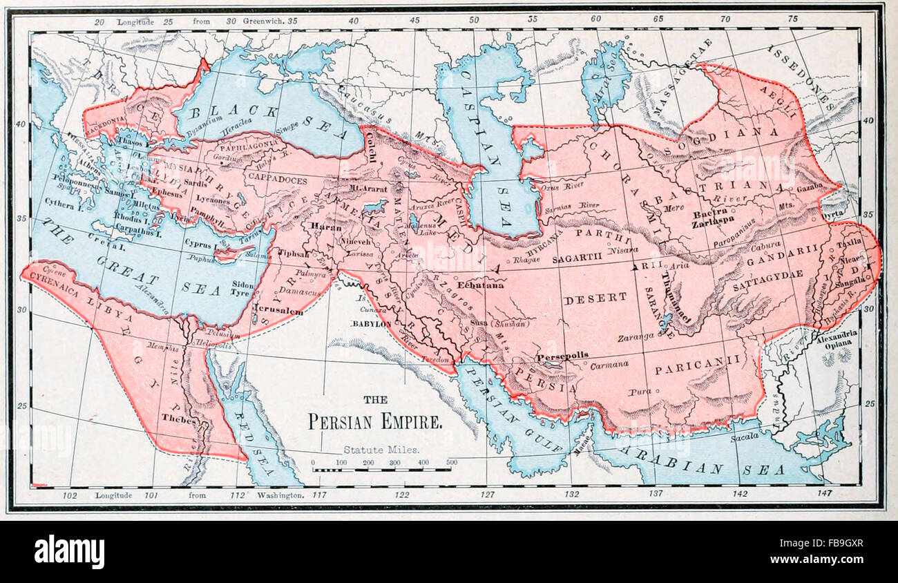 Map Of The Persian Empire Stock Photo Royalty Free Image - Persian empire map