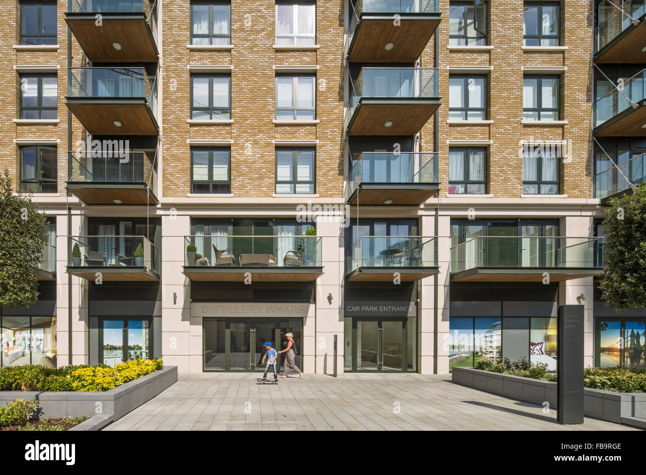 Apartment Front Elevation Images : Front elevation of entrance fulham reach luxury