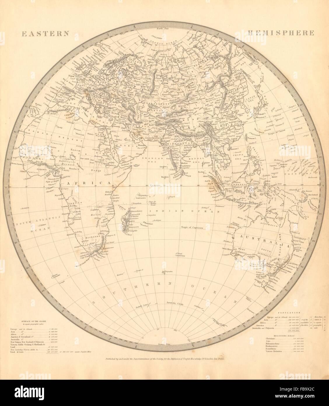 EASTERN HEMISPHERE Europe AfricaMountains Of KongAsia Stock - Map asia us uk australia