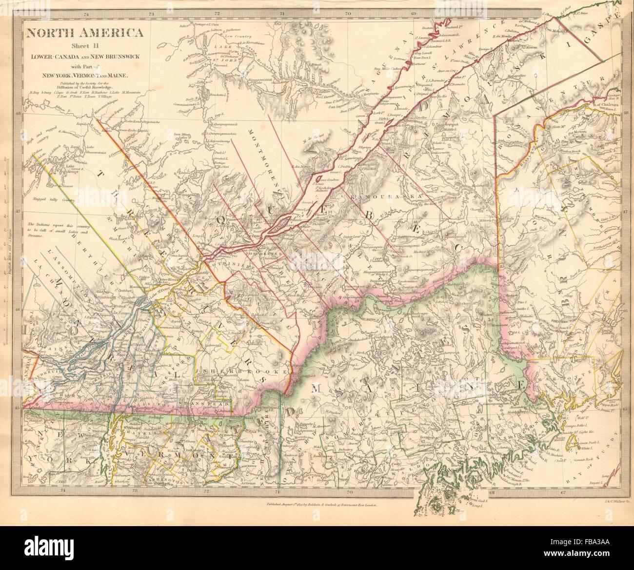 QUEBEC Québec CanadaMontrealThree RiversMaineNew Stock Photo - Map of maine rivers