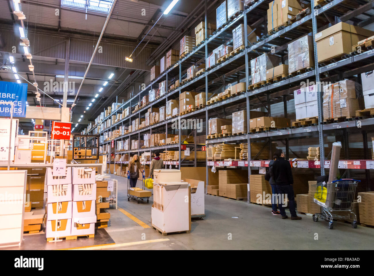 paris france people shopping in modern diy housewares store ikea stock photo 93035221 alamy. Black Bedroom Furniture Sets. Home Design Ideas