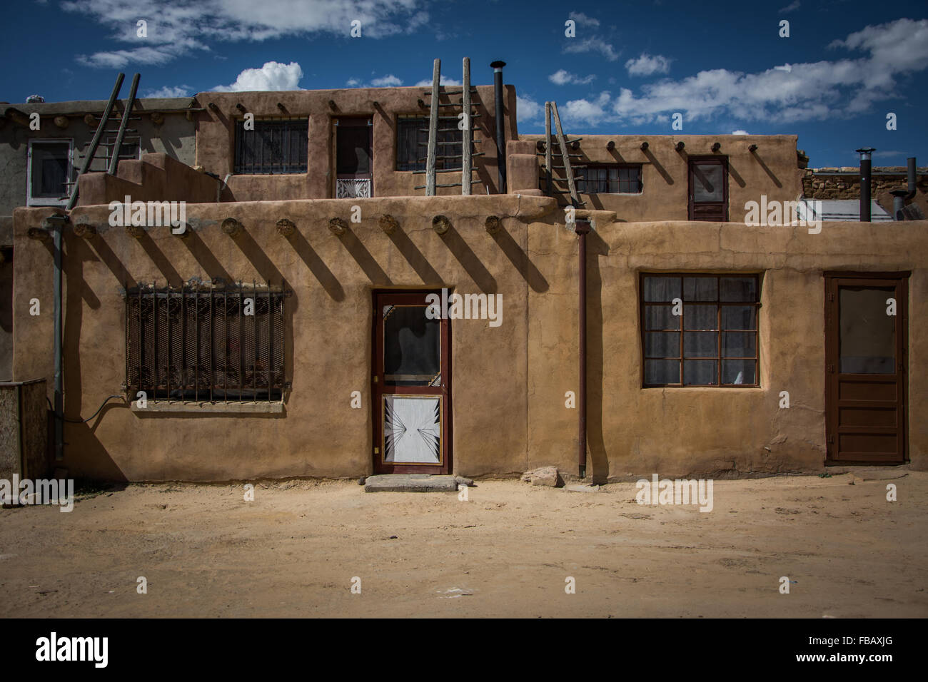 Adobe houses sky city acoma pueblo new mexico stock for Adobe construction pueblo co