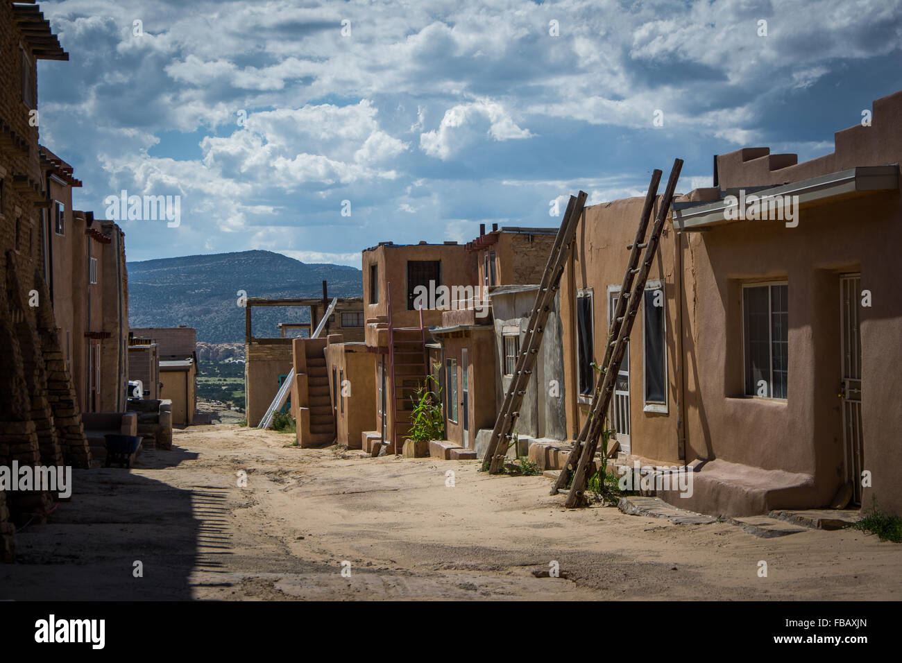 Adobe houses sky city acoma pueblo new mexico stock photo royalty free image 93053485 alamy - Pueblo adobe houses property ...