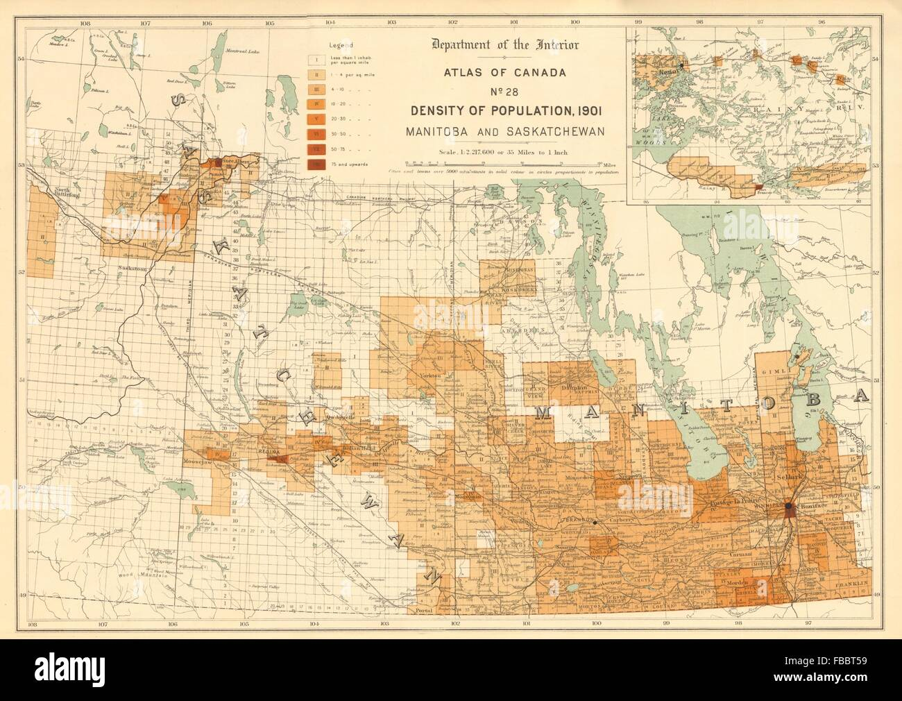 Canada population density 1901 manitoba and saskatchewan white manitoba and saskatchewan white 1906 old map gumiabroncs Gallery