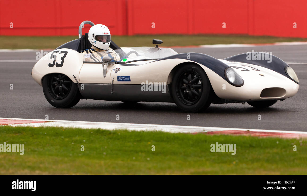 Lola Mk1 competing in the Stirling Moss Trophy for Pre\' 61 Sports ...