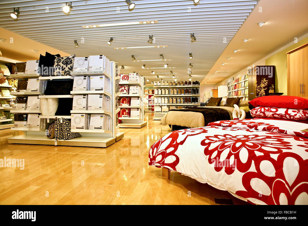 Interior Of A Next Home Store In London Uk Stock Photo