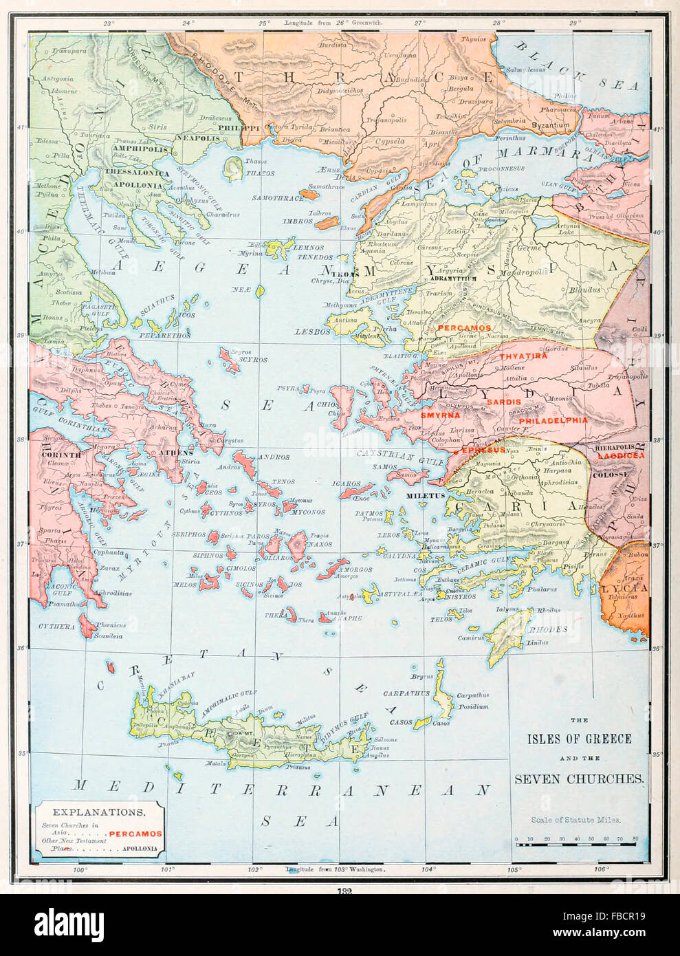 Map of the isles of greece and the seven churches early map of the isles of greece and the seven churches early christian ministry sciox Choice Image