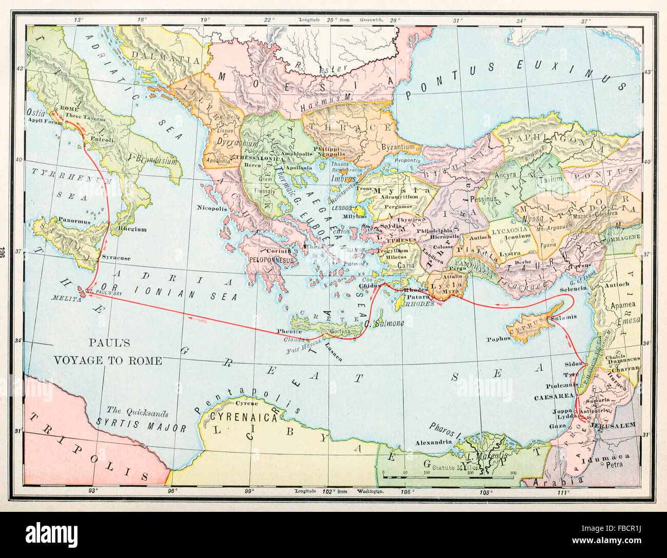 Map of apostle pauls voyage to rome early christian ministry map of apostle pauls voyage to rome early christian ministry sciox Choice Image
