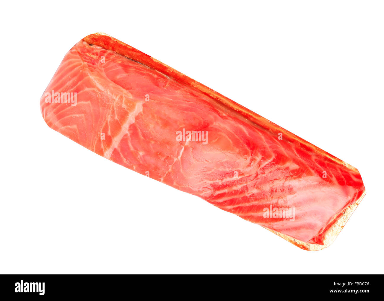 Piece of red fish fillet isolated on white stock photo for Red fish fillet