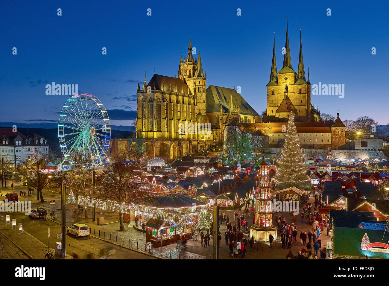 erfurt christmas market thuringia germany stock photo royalty free image 93101301 alamy. Black Bedroom Furniture Sets. Home Design Ideas