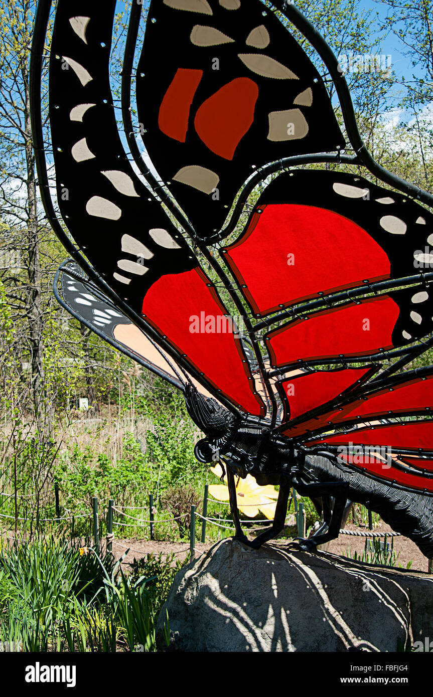 A Butterfly Sculpture At The New York Botanical Garden