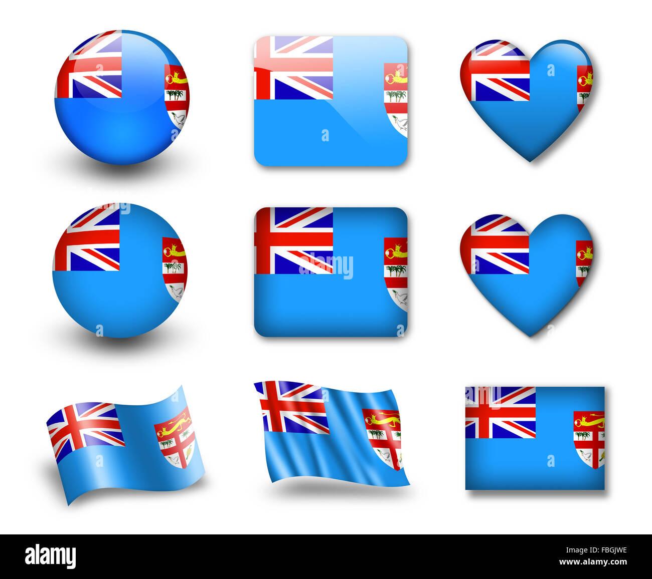 The Fiji flag Stock Photo Royalty Free Image 93179114  Alamy