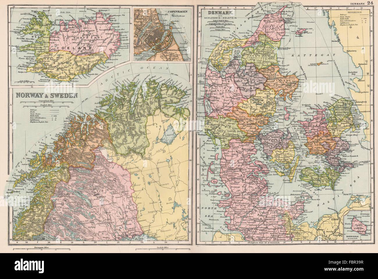 SCANDINAVIA Lapland Iceland Denmark Copenhagen Norway Sweden - Sweden lapland map