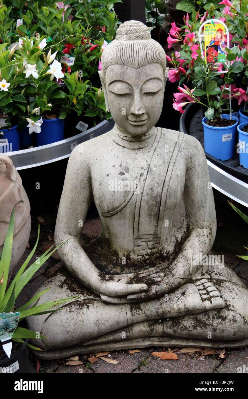 Buddha Garden Statue In A Garden Nursery Melbourne Victoria Stock