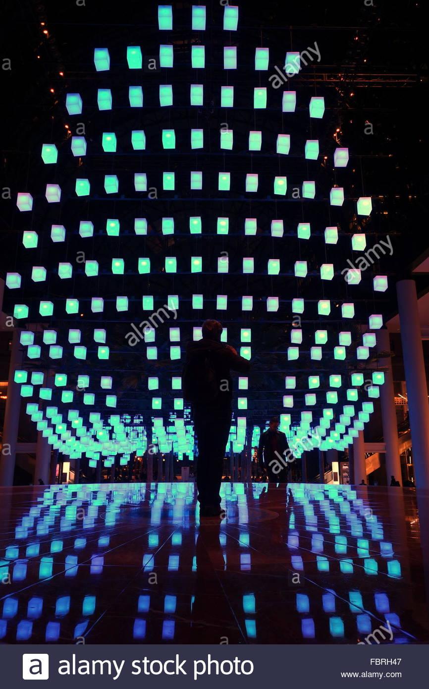 luminaries spectacular lighting display. Luminaries - A Spectacular Lighting Display At The Winter Garden, Brookfield Place, New York City, Alamy