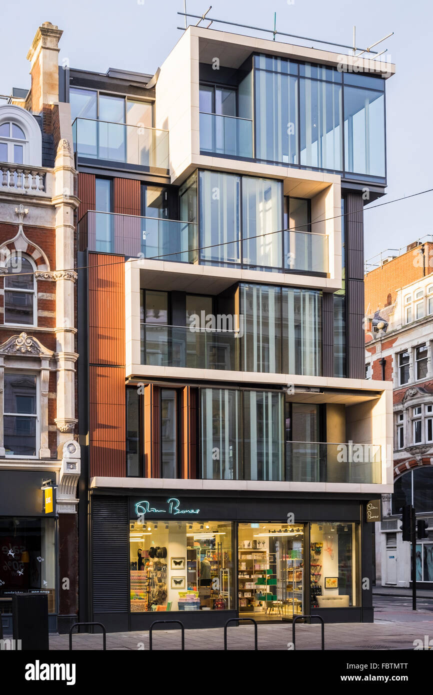Modern Architecture London England tottenham court road modern architecture, london, england, u.k