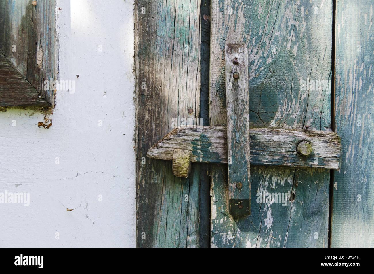 Stock Photo - old wooden door fastener & old wooden door fastener Stock Photo Royalty Free Image: 93386289 ...