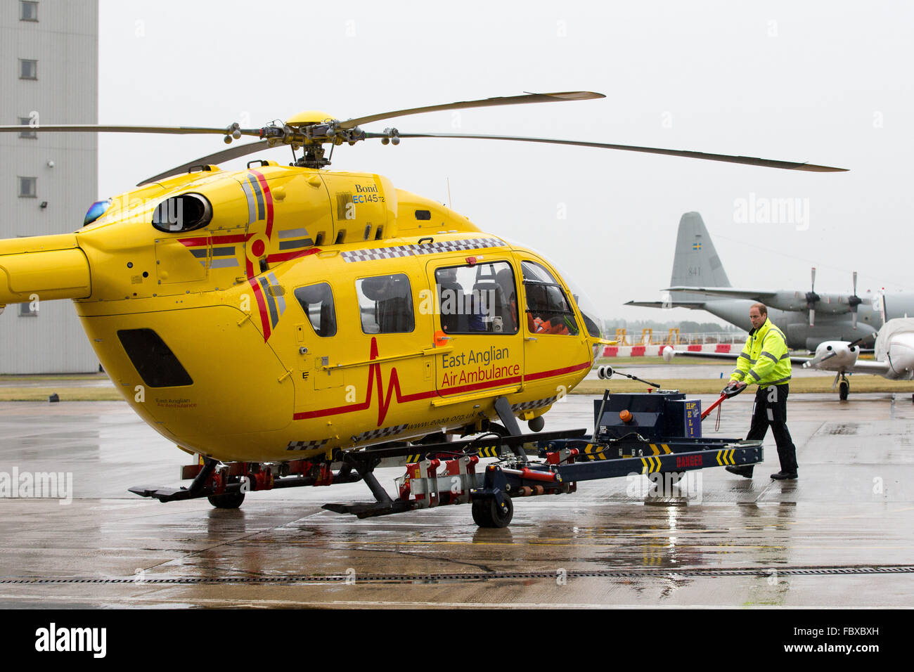 prince william at cambridge airport on the first day of his new prince william at cambridge airport on the first day of his new job as a helicopter pilot for the east anglian air ambulance