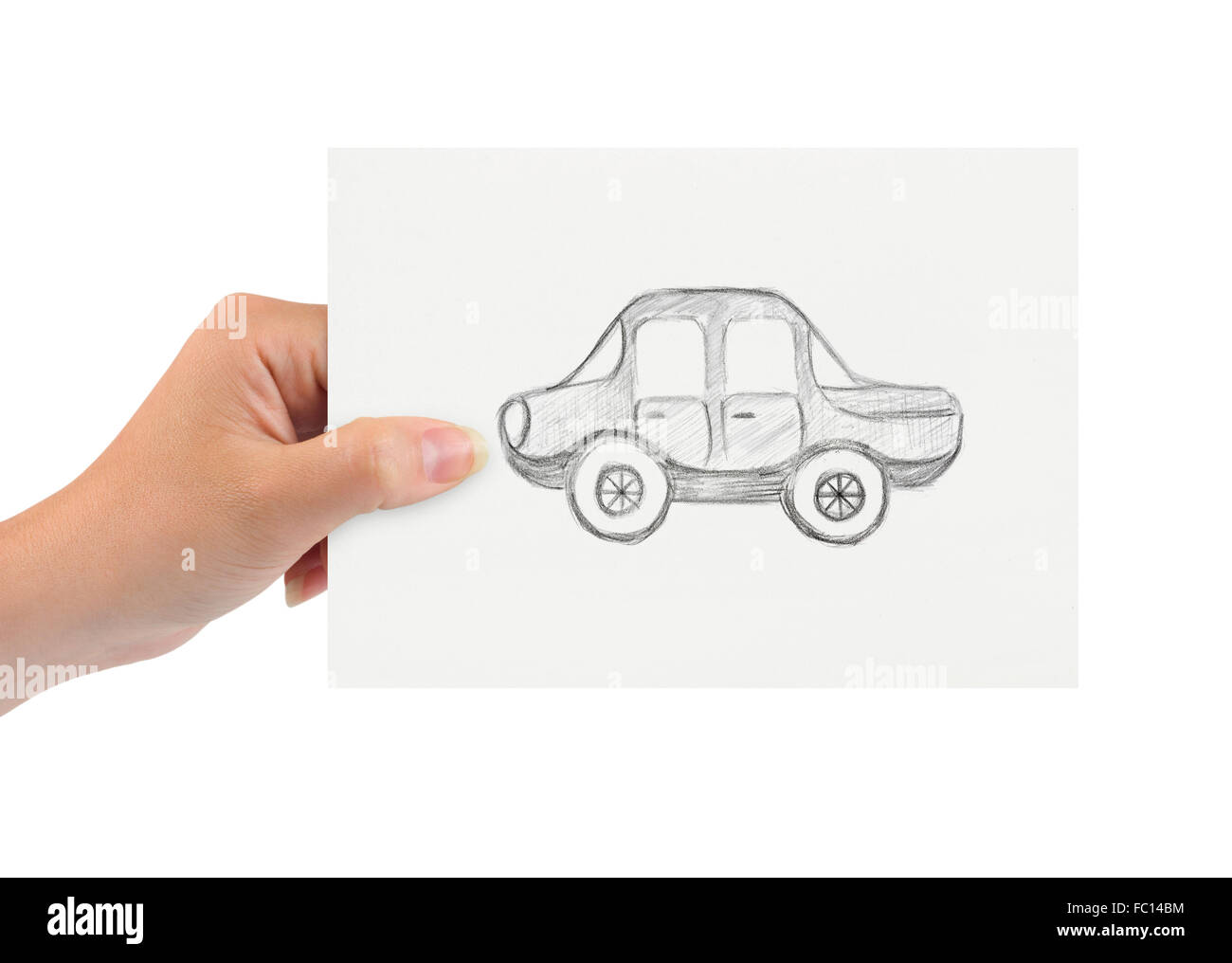 Hand with drawing car Stock Photo, Royalty Free Image: 93453128 ...
