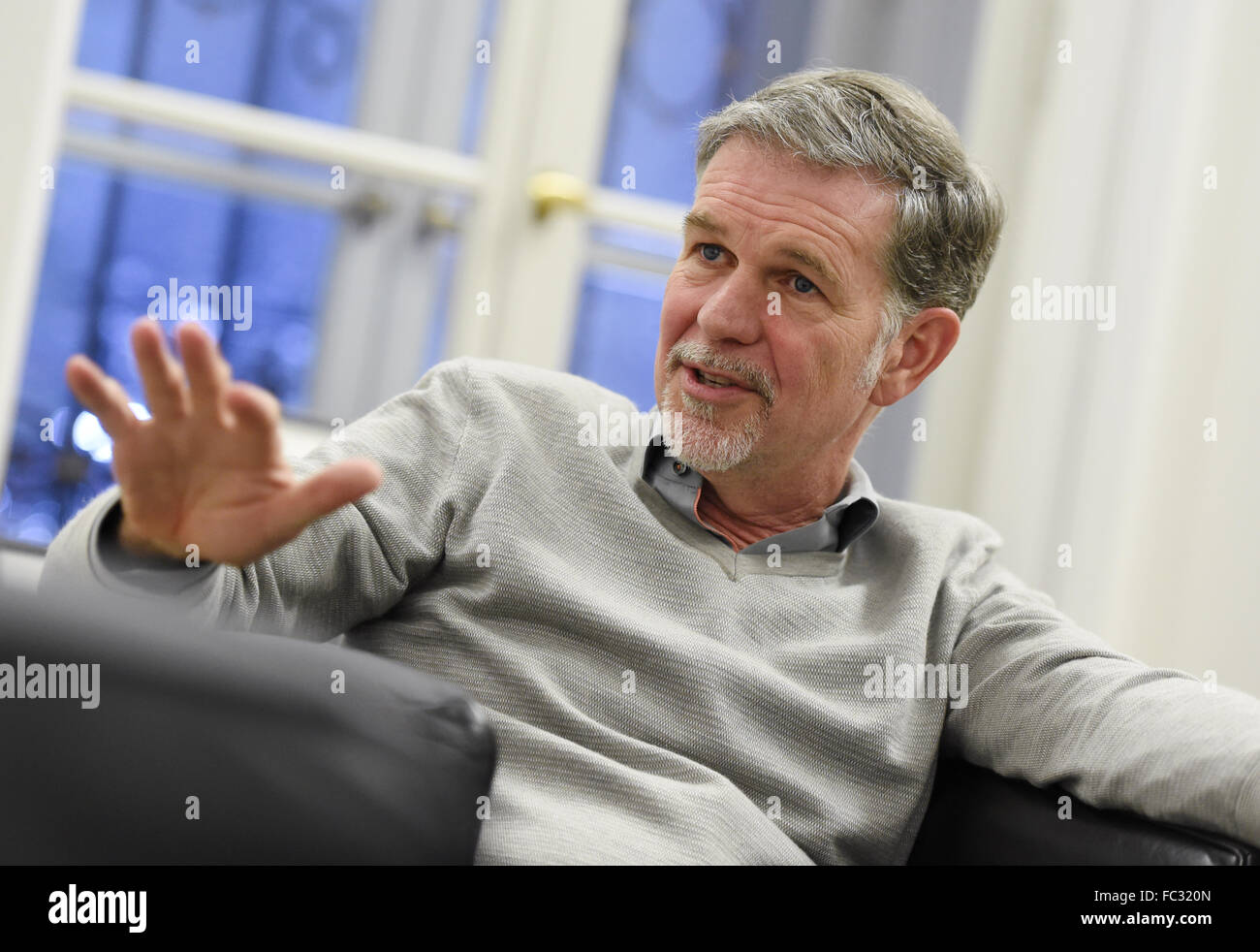 reed hastings head of the online video service netflix during an reed hastings head of the online video service netflix during an interview at the