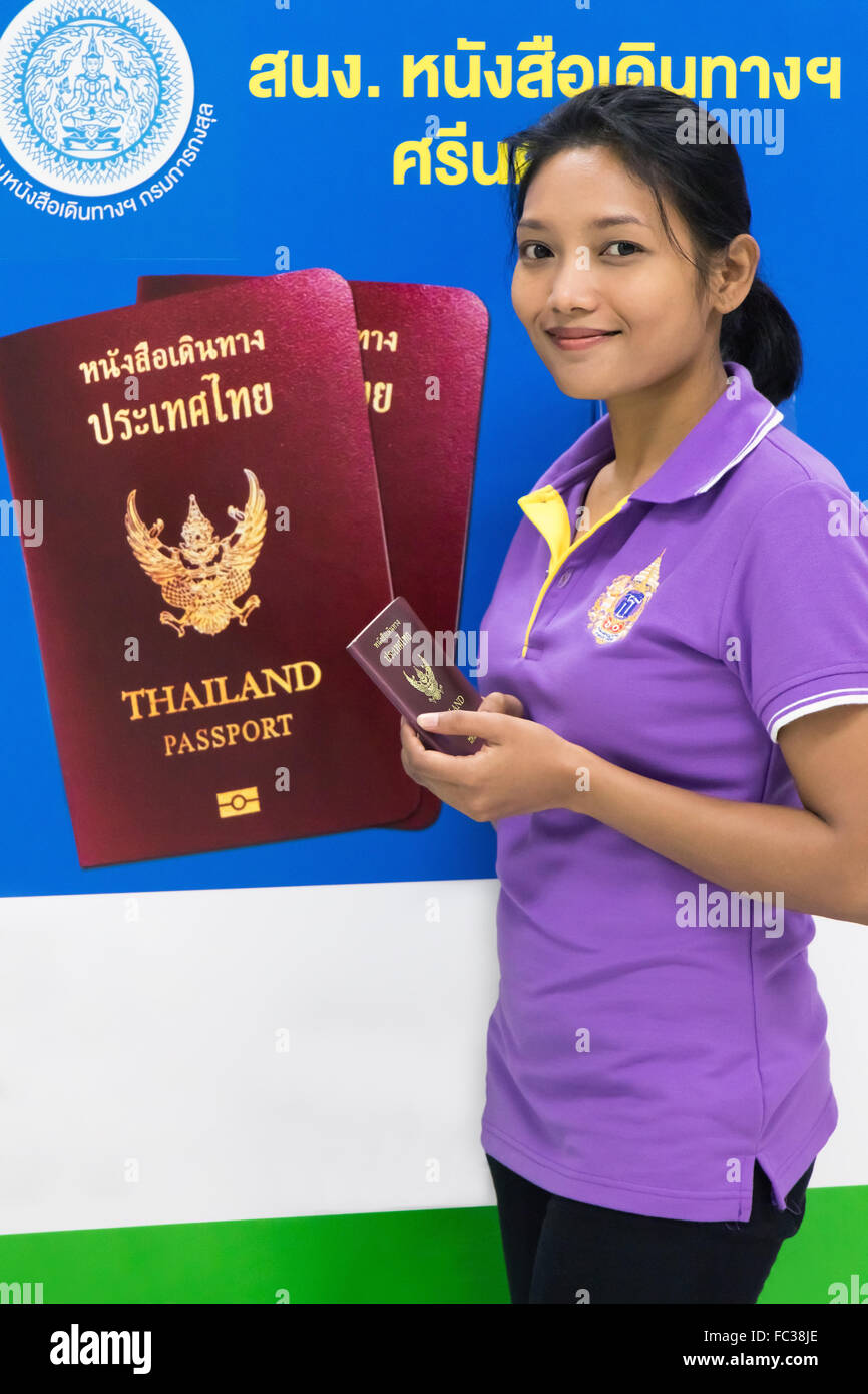 Successful Applicant For A Passport From Thai Authorities