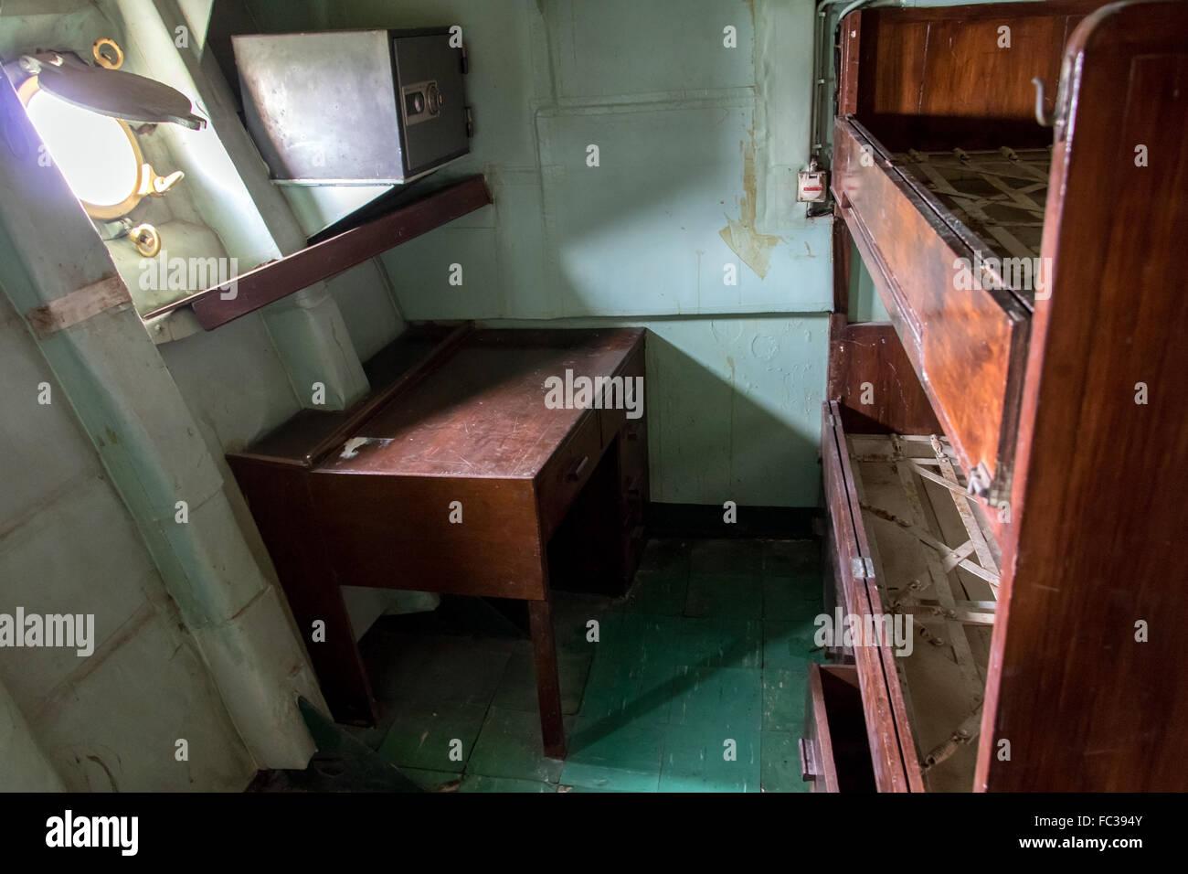 Royal thai navy stock photos royal thai navy stock images alamy bedroom cabin on the old ship stock image buycottarizona
