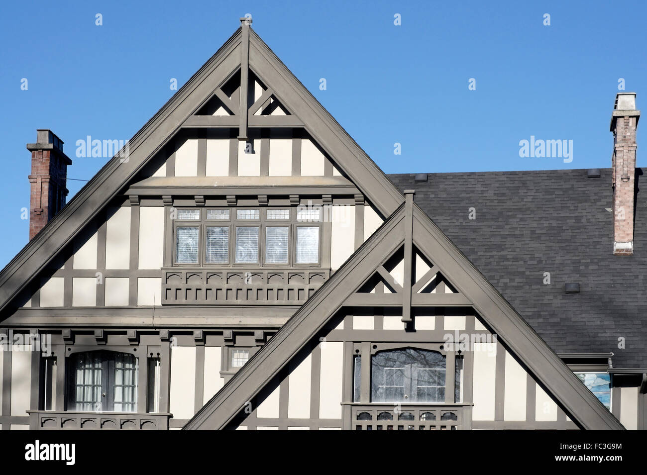facade of a large tudor style house in shaughnessy neighbourhood