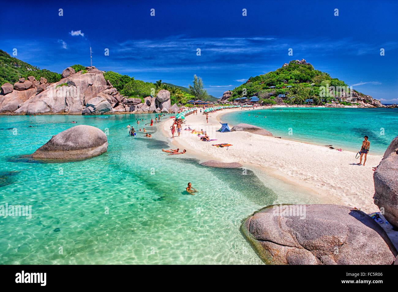 Ko Nang Yuan Island, Koh Tao, Koh Samui, Thailand Stock Photo, Royalty Free I...