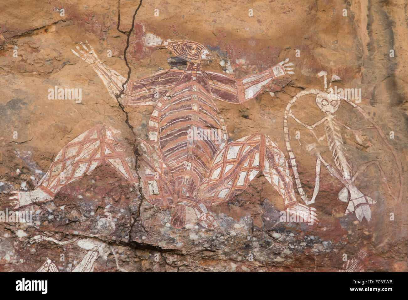 Man Caves Australia : Cave painting of namarrgon the lightning man kakadu