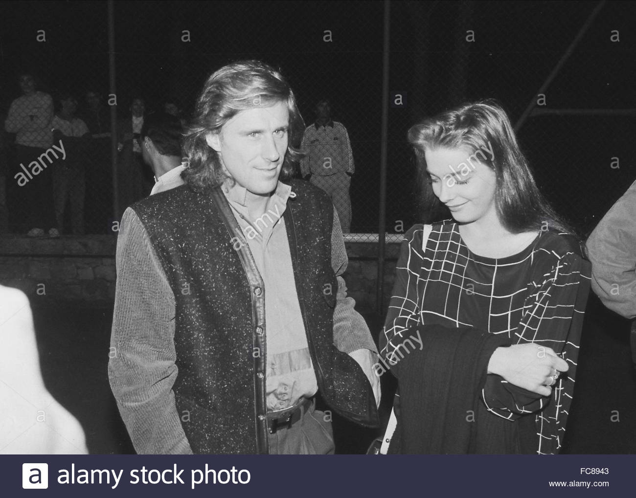 Björn Borg with his wife Jannike in Athens Greece Stock