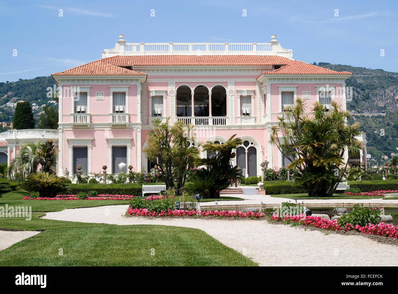 Front View Of The Villa Ephrussi De Rothschild French