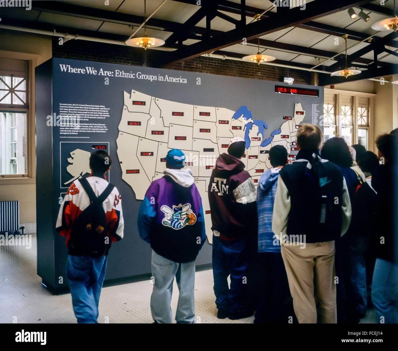 Students By US Ethnic Groups Map Ellis Island Museum New York NY - Map of new york ellis island