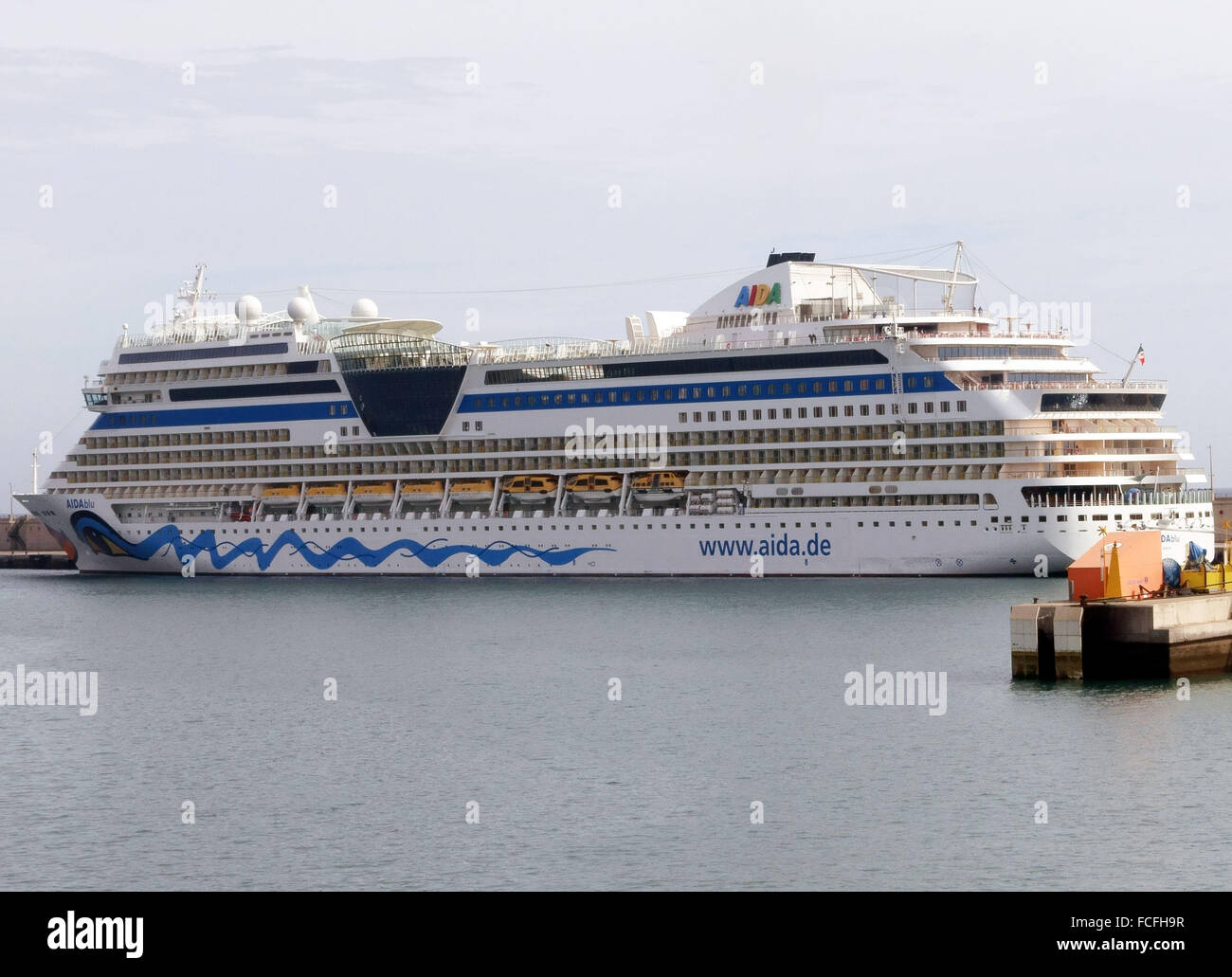Cruise Ship Of The German Line Aida In Port In Tenerife Canary - Aida de cruise ship