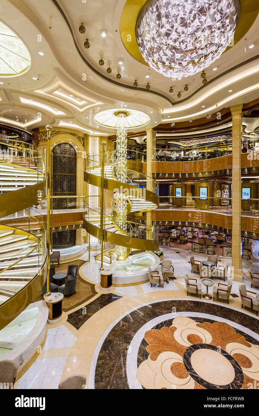 The decor of the atrium aboard the regal princess cruise for Atrium design and decoration