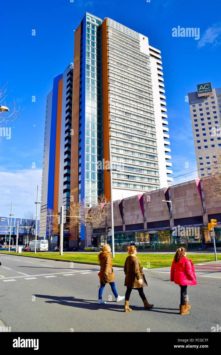 Man crossing avinguda diagonal avenue hotel barcelona - Ac hotels barcelona ...