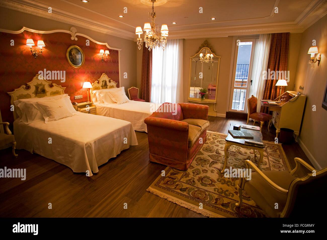 Ernest Hemingway Bedroom. Hotel La Perla. Pamplona. Navarre, Spain