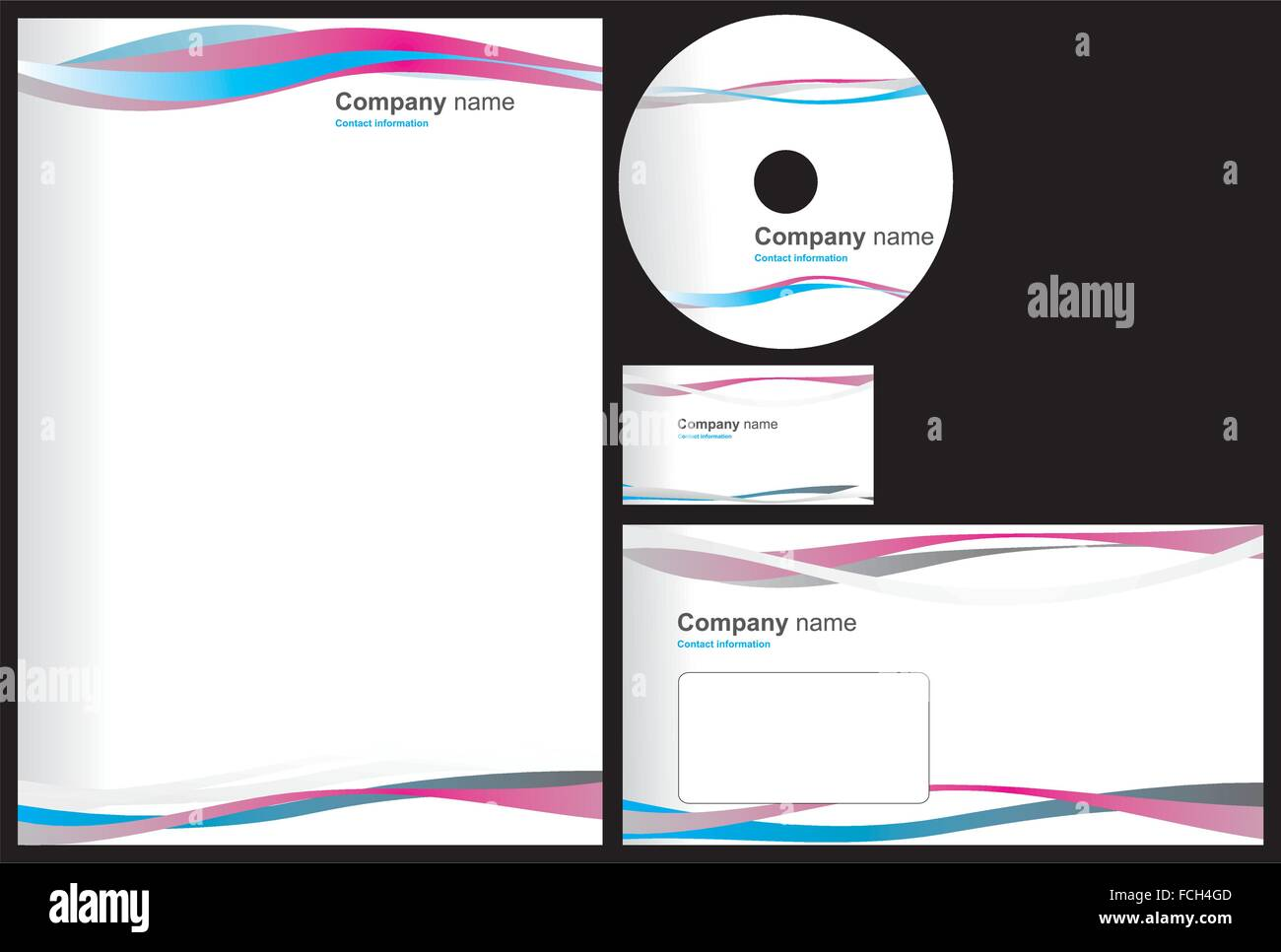 Business package with business card letterhead envelope and cd business package with business card letterhead envelope and cd reheart Choice Image