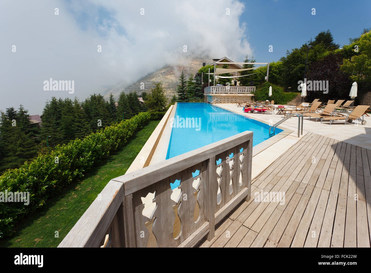 hotel swimming pool in faraya lebanon stock photo royalty free image 93846449 alamy