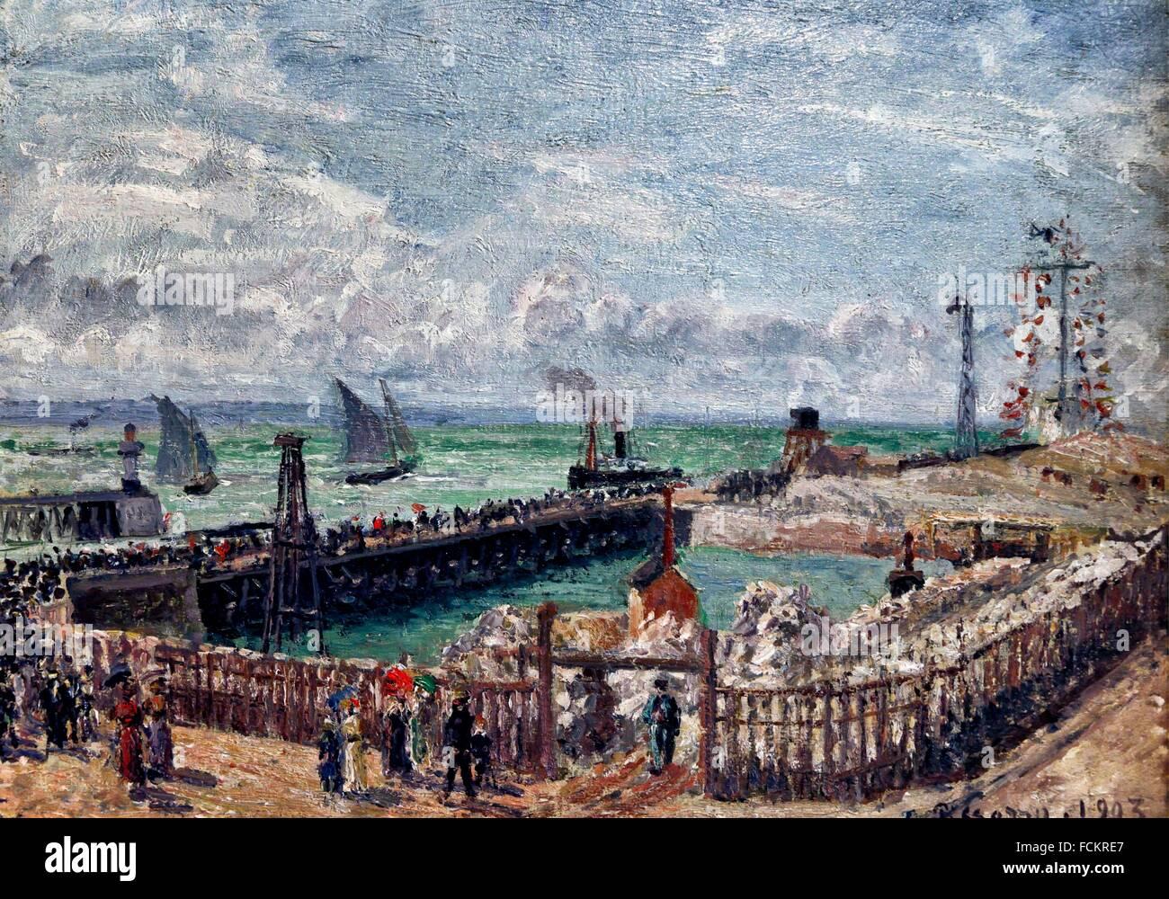 Camille pissarro entree du port du havre et le brise for Salon du chiot le havre