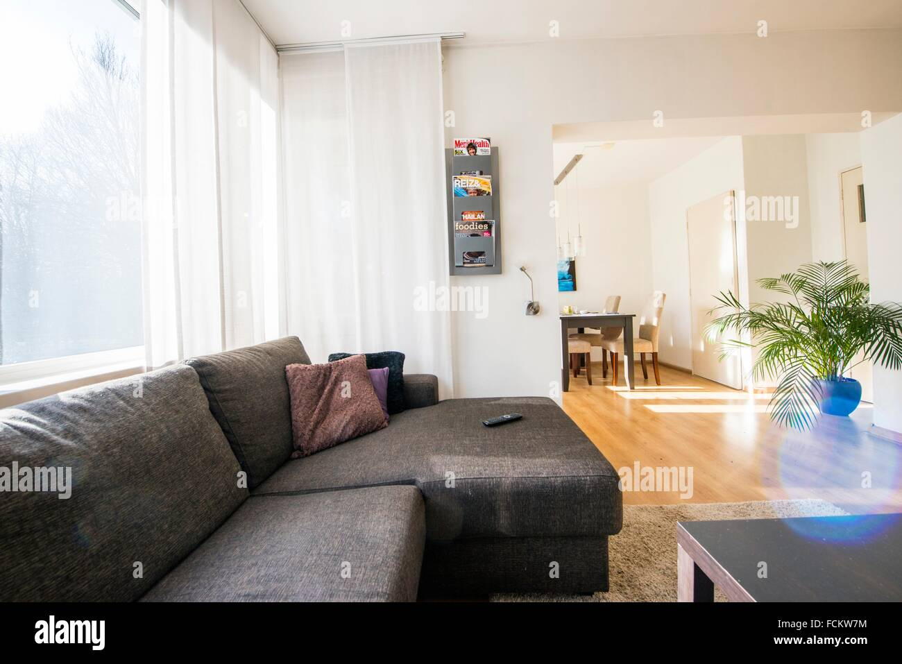 Living Room In An Apartment, Owned By A Regular Couch Surfing Host