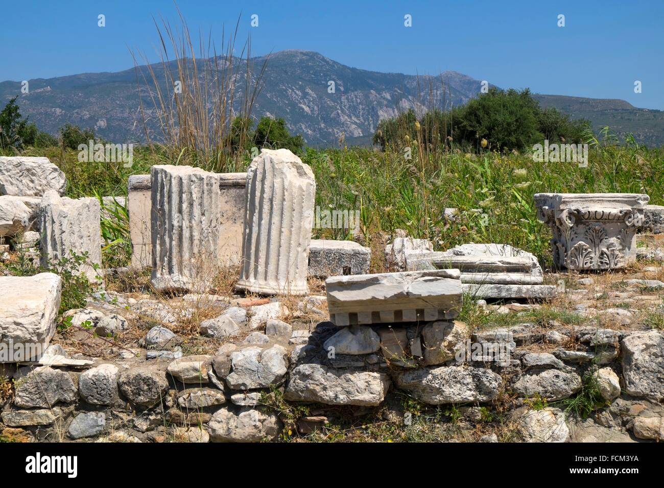 The Temple of Hera, Heraion of Samos, Samos island, North ...