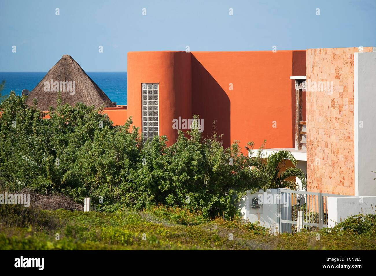colorful house with modern architecture isla mujeres cancun quintana roo yucatan province mexico north america - Modern Architecture Mexico