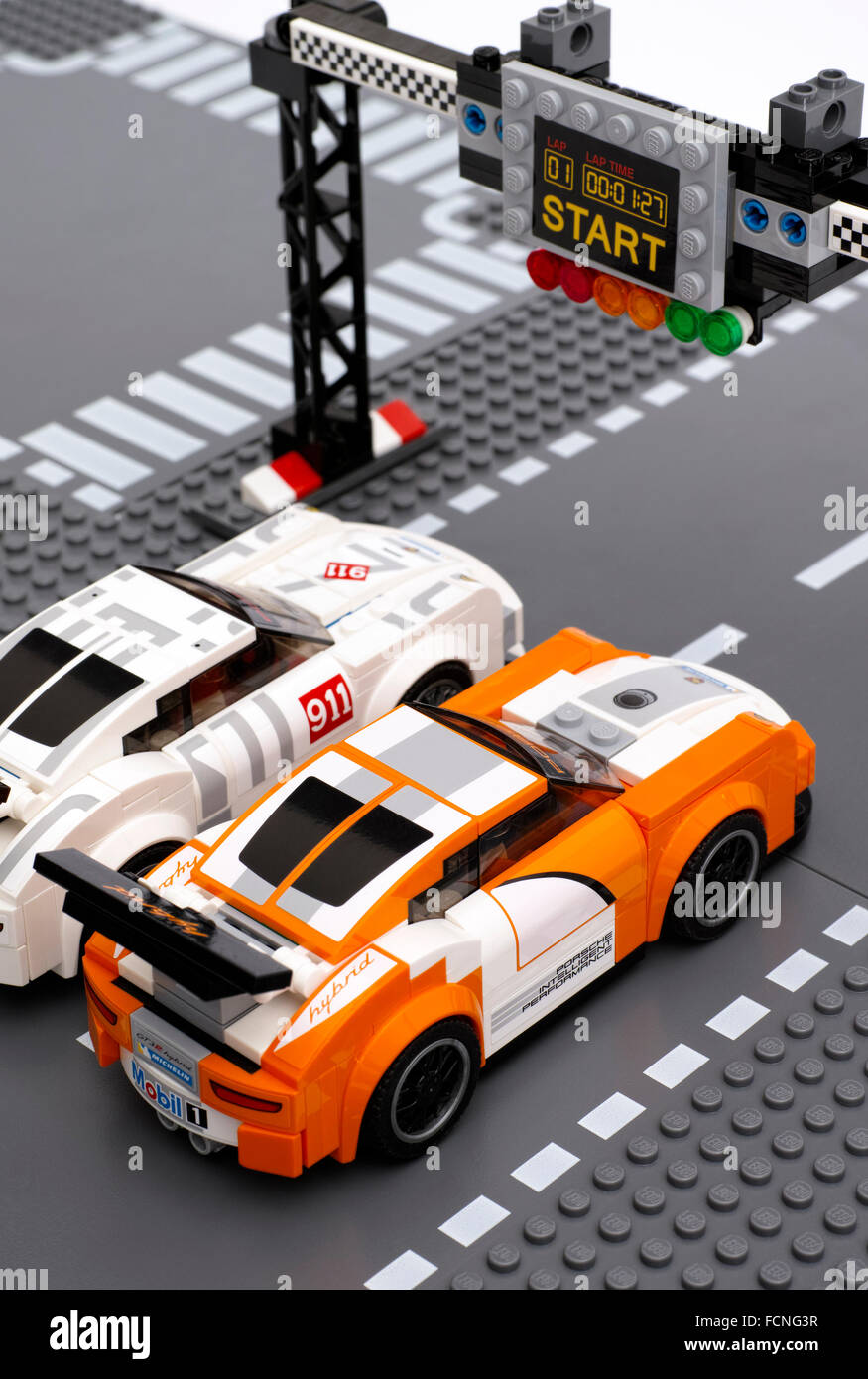 tambov russian federation june 27 2015 two lego porsche 911 gt stock photo royalty free. Black Bedroom Furniture Sets. Home Design Ideas