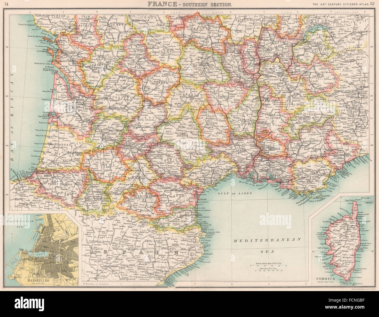 FRANCE SOUTHShowing departementsInset Stock Photo 93901571 Alamy