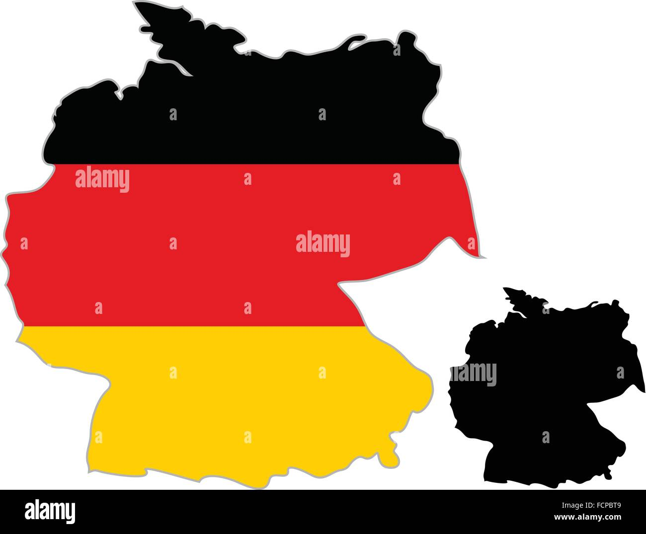 Germany Map Red Outline Symbol Stock Photos Germany Map Red - Germany map outline