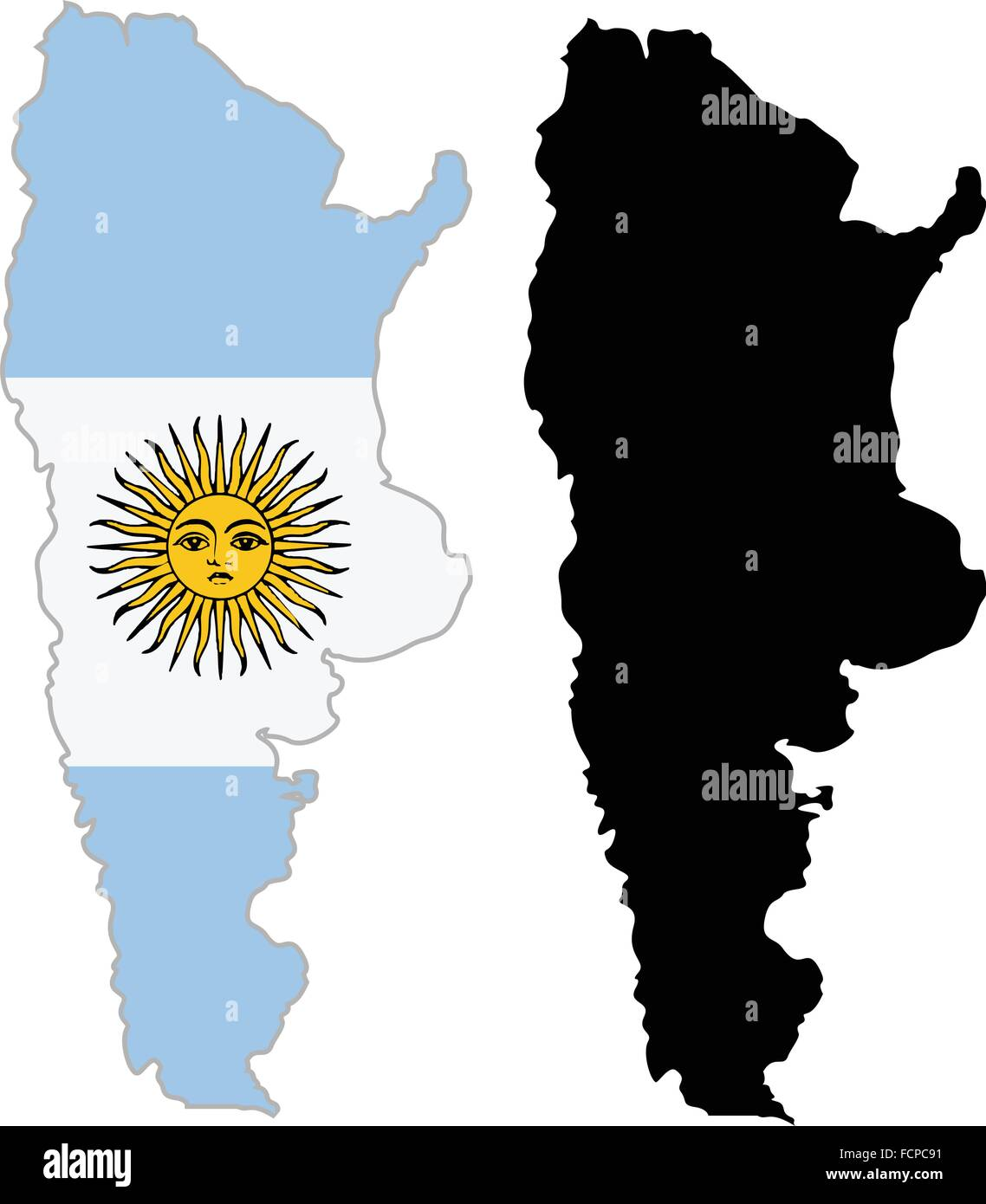 Argentina Map Flag On A White Background Vector Illustrator Stock - Argentina map vector