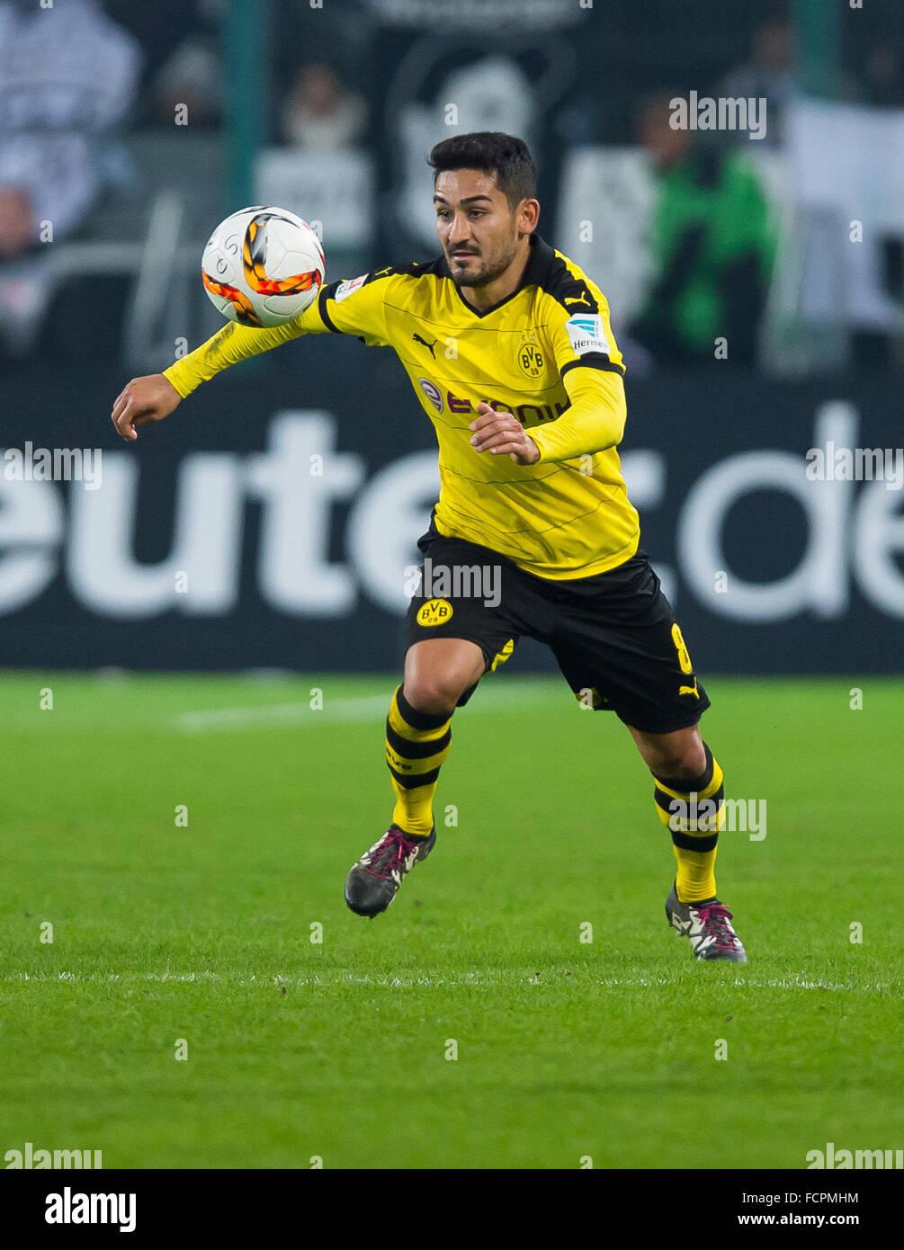 Moenchengladbach Germany 23rd Jan 2016 Dortmund s Ilkay