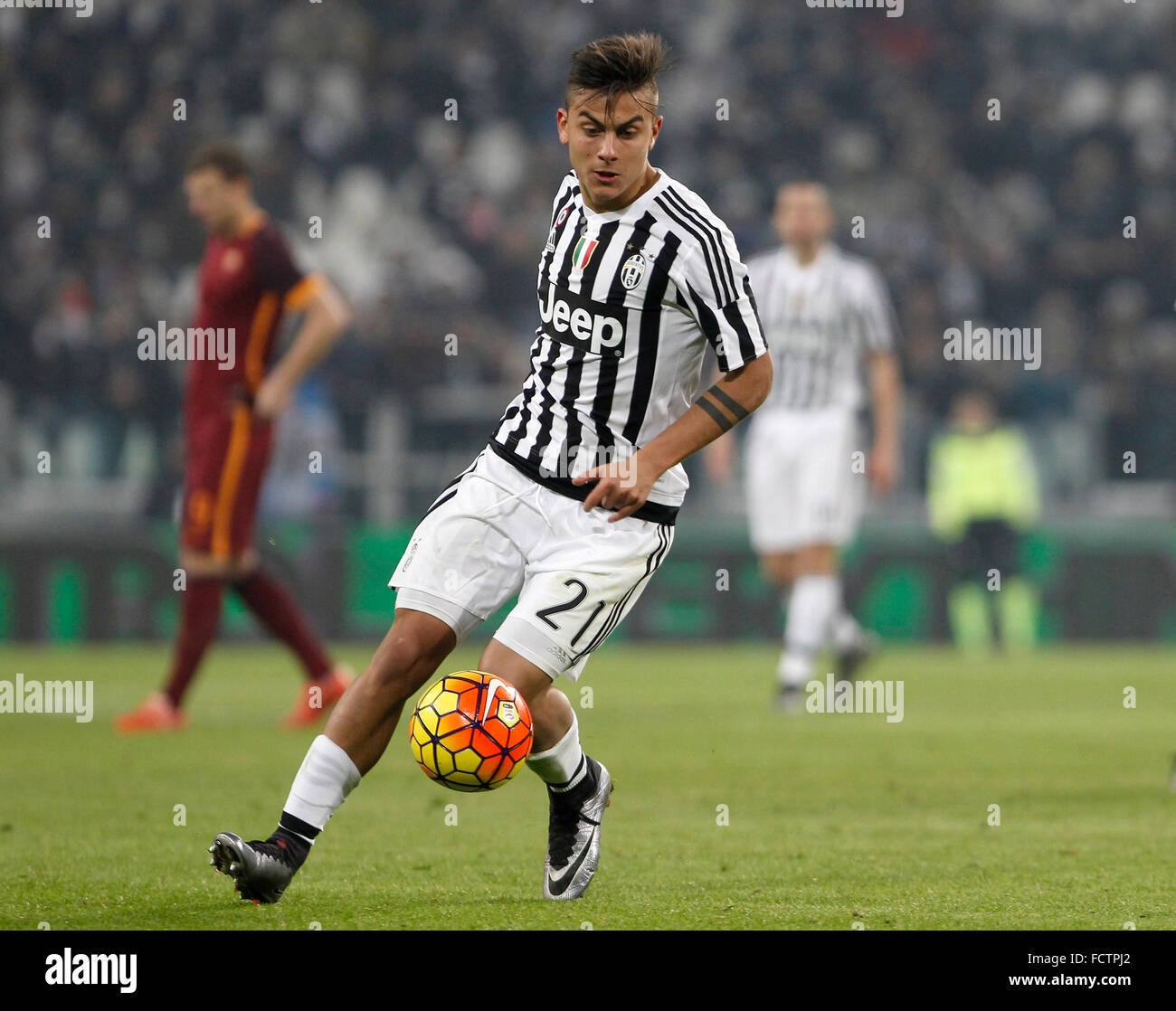 Juventus• Paulo Dybala in action during the Italian Serie A