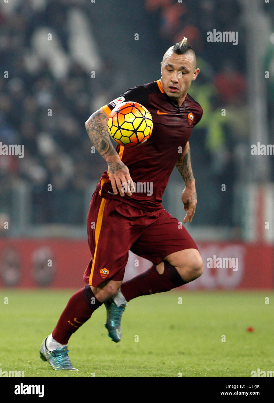 Roma s Radja Nainggolan in action during the Italian Serie A