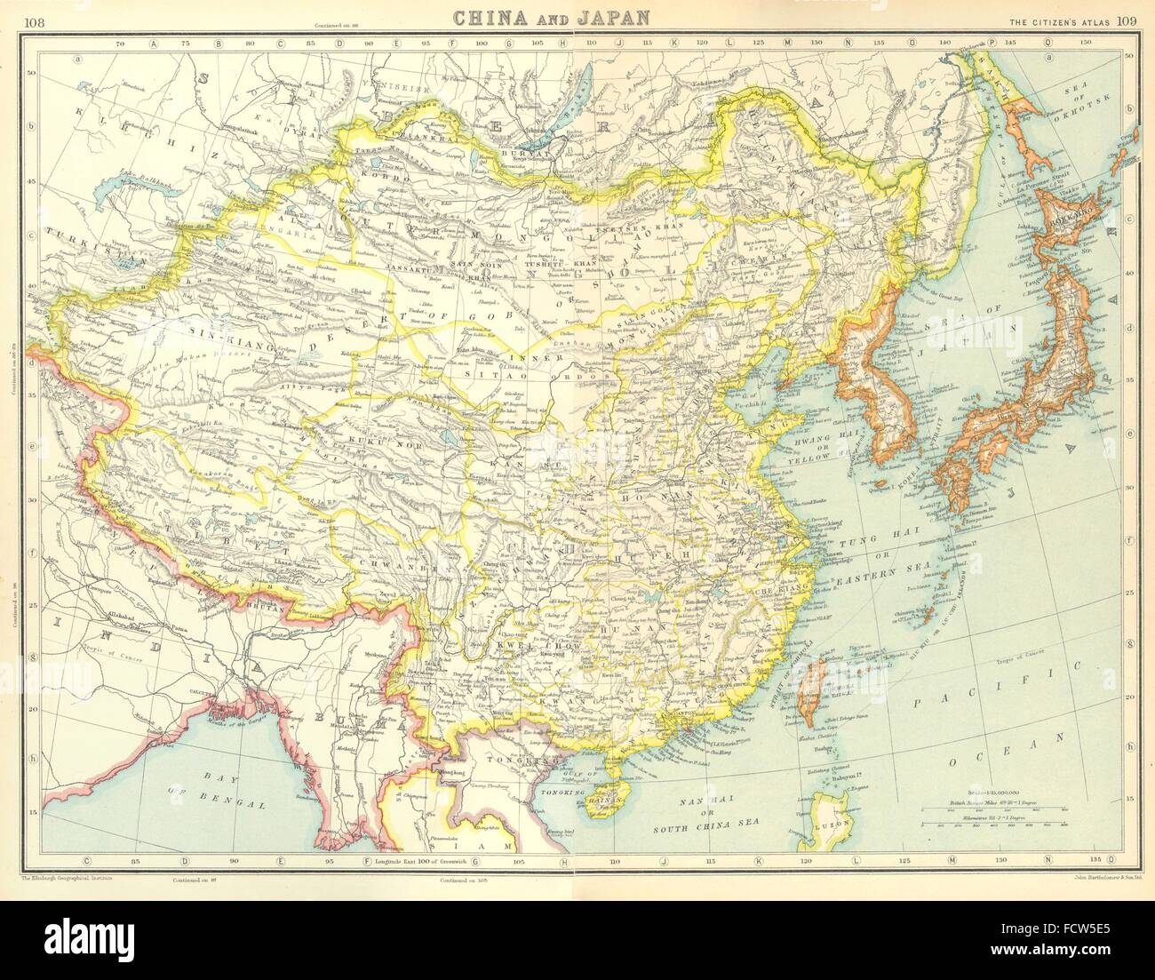 East asia china japan japanese occupied korea formosa taiwan east asia china japan japanese occupied korea formosa taiwan 1924 old map gumiabroncs Image collections